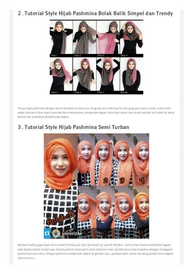 30 Tutorial Hijab Pashmina Simple Untuk Sehari Hari Kuliah Kantor T