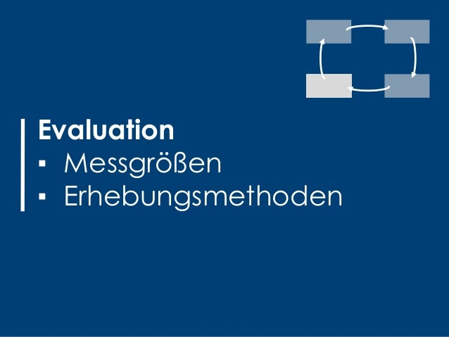 20#30u30 2016 | Philipp Blankenagel, Jens Cornelißen Evaluation ▪ Messgrößen ▪ Erhebungsmethoden