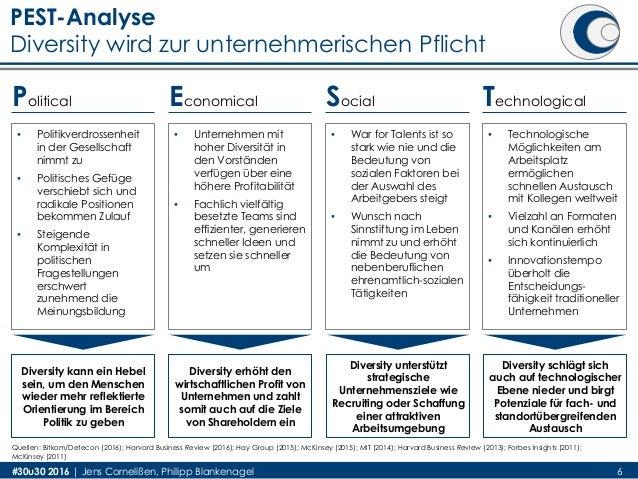 PEST-Analyse Diversity wird zur unternehmerischen Pflicht #30u30 2016 | Jens Cornelißen, Philipp Blankenagel ▪ Politikverd...