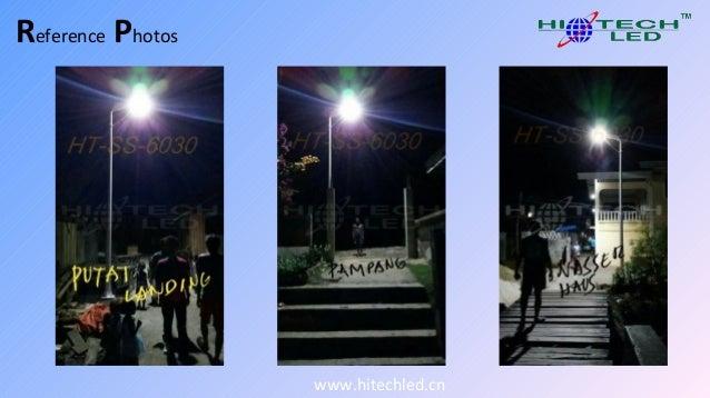 Hiteched 30w smart offgrid integrated solar street light illuminate T…