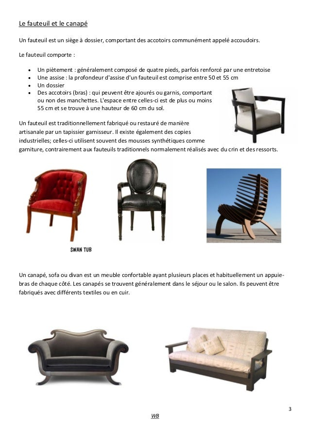 Les differents types de meubles - Differents types de ventilation ...