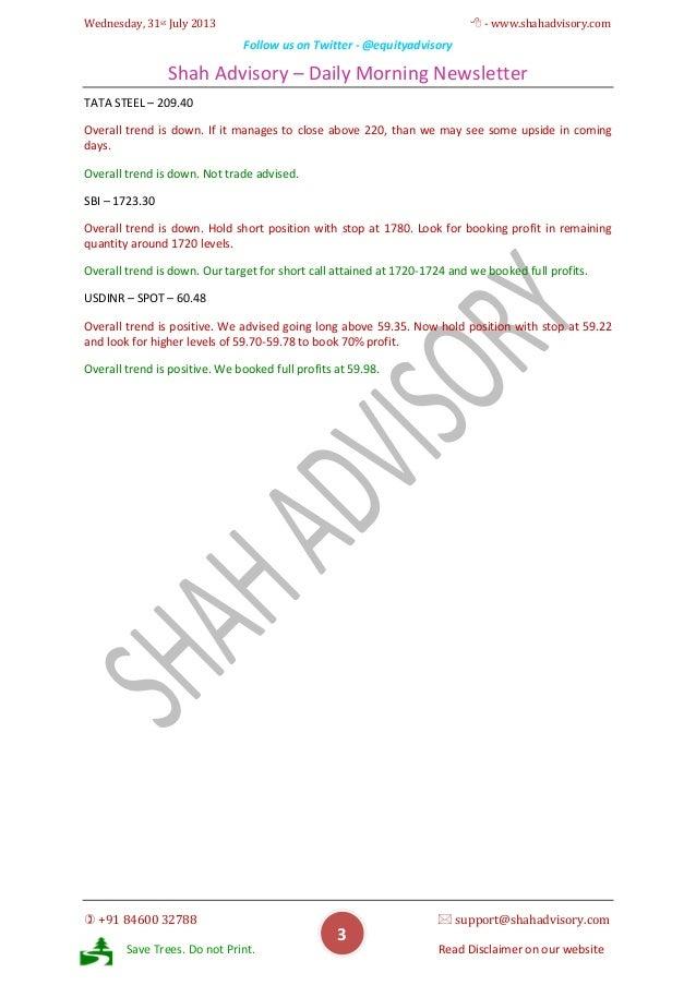 Daily Newsletter - 31-07-2013 Slide 3