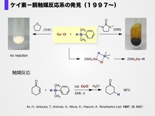 no reaction (DMI)nCu H(DMI)nCu Cl H Si Ito, H.; Ishizuka, T.; Arimoto, K.; Miura, K.; Hosomi, A. Tetrahedron Lett. 1997, 3...