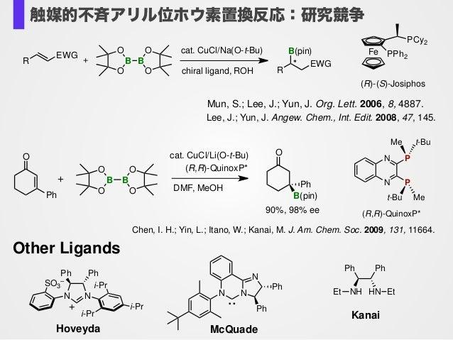 Mun, S.; Lee, J.; Yun, J. Org. Lett. 2006, 8, 4887.! Lee, J.; Yun, J. Angew. Chem., Int. Edit. 2008, 47, 145. R EWG O B O ...