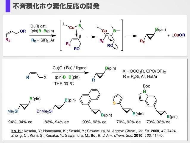 Cu(I) cat. (pin)B–B(pin) Cu BL OR RO RE RE RO RE Cu B L B(pin) RE RE = SiR3, Ar β LCuOR+ (pin)B B(pin) Cu(O-t-Bu) / ligand...
