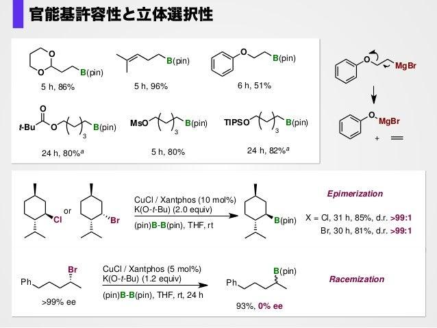 Br CuCl / Xantphos (3 mol%) K(O-t-Bu) (1.0 equiv) (pin)B-B(pin), THF, rt, 24 h B(pin) 0% B(pin) (pin)B B(pin)+ unidentifie...