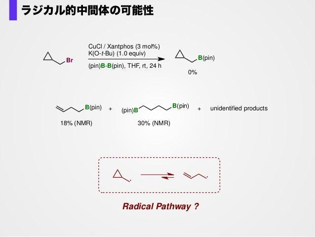R X LnCu B(pin)LnCu X LnCu O-t-Bu LnCuIII KX K(O-t-Bu) borylcopper(I) intermediate σ−bondmetathesis X RR (pin)B LnCuII X (...
