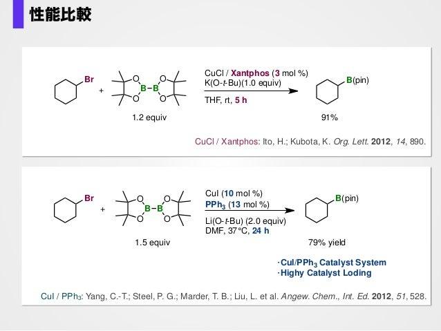 K. Kubota Kubota, K.; Yamamoto, E.; Ito, H. J. Am. Chem. Soc. 2013, 135, 2635. B B 88% O O O O O B O B O O (1.2 equiv) Br ...