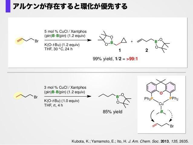 Br n Cu B Lt-BuO I – K + LCu(O-t-Bu) B CuL Br B LCuBr + n substitution insertion + K(O-t-Bu) – KBr n L = Xantphos + K(O-t-...