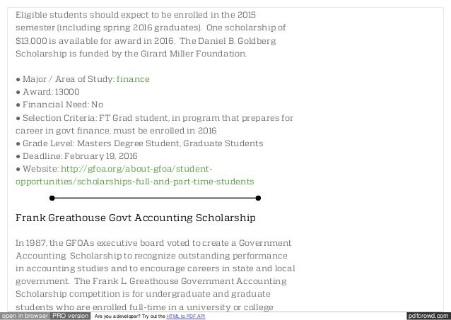 Accounting Scholarships