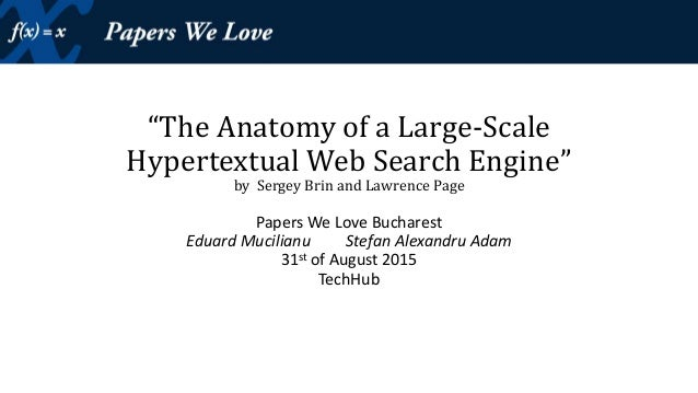 Pagerank The Anatomy Of A Large Scale Hypertextual Web Search En