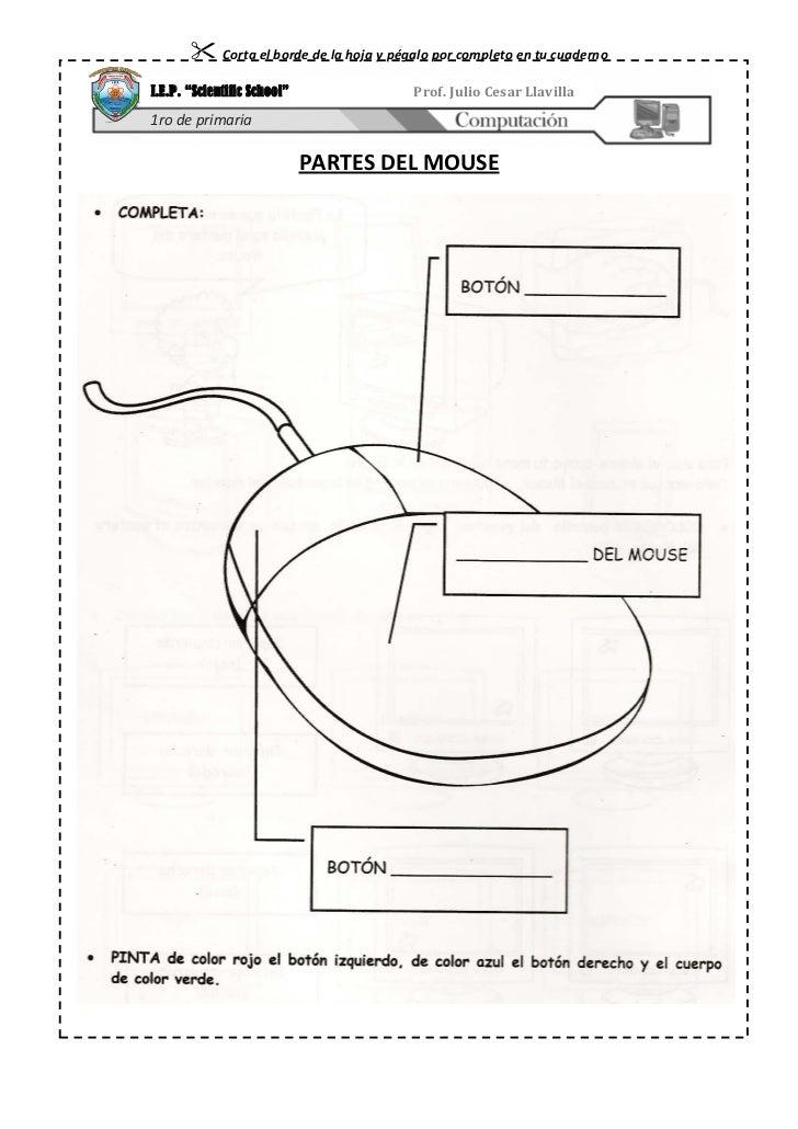 """ Corta el borde de la hoja y pégalo por completo en tu cuadernoI.E.P. """"Scientific School""""               Prof. Julio Cesar..."""