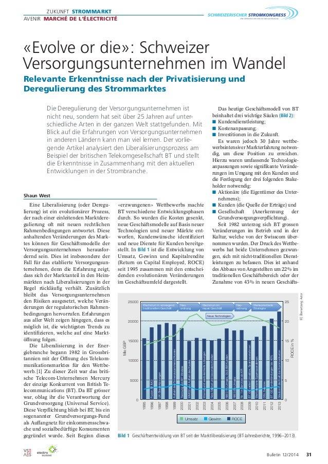 Zukunft Strommarkt  avenir Marché de l'électricité  «Evolve or die»: Schweizer  Versorgungsunternehmen im Wandel  Relevant...