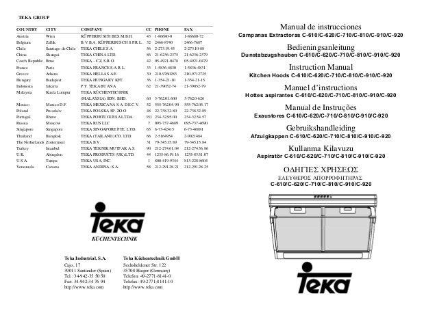 TEKA GROUP COUNTRY CITY COMPANY CC PHONE FAX Austria Wien KÜPPERBUSCH BES.M.B.H. 43 1-86680-0 1-86680-72 Belgium Zellik B....
