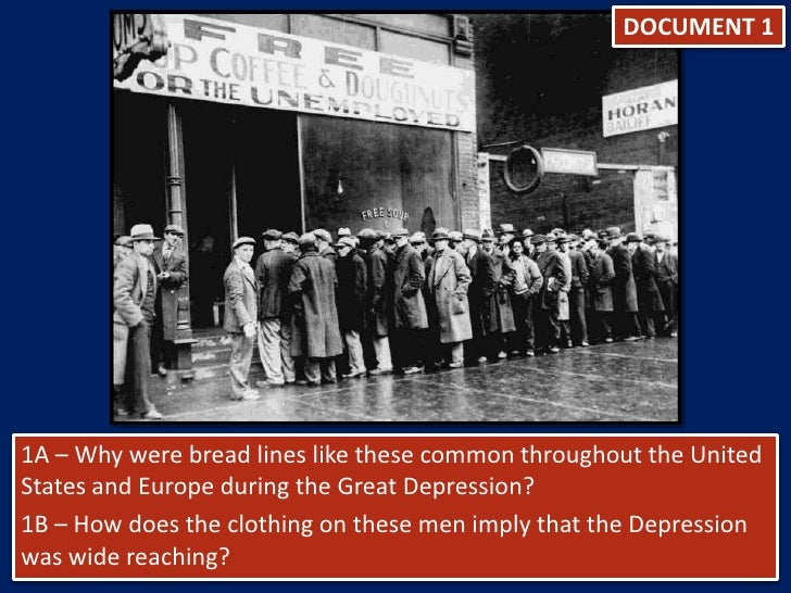 what caused the great depression dbq essay The great depression plunged the american people into an economic crisis unlike any endured in this country before or since the worst and longest downturn in our economic history threw millions of hardworking individuals into poverty, and for more than a decade, neither the free market nor the federal government was.