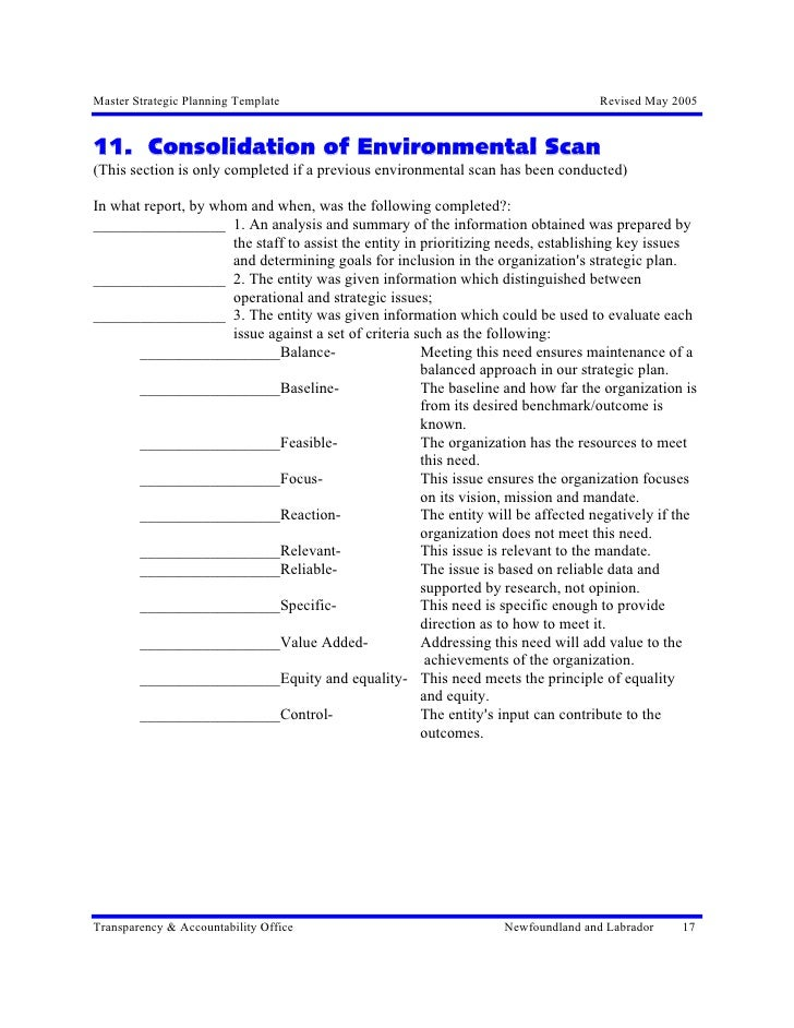 environmental scan template - environmental scan template image collections template