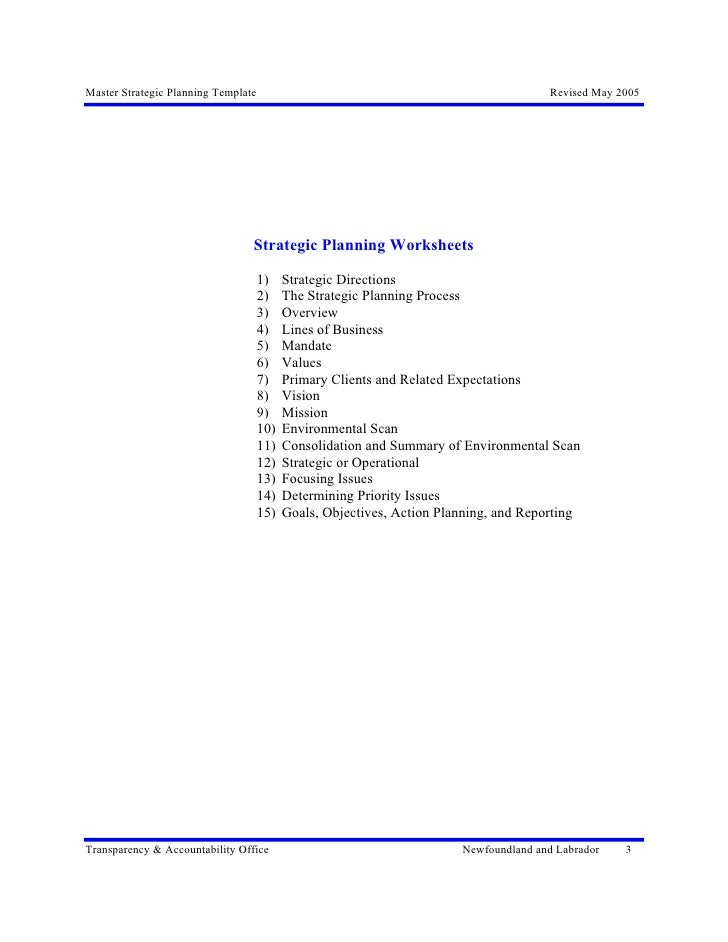 31. Excellence In Strategic Planning Master Temp Strategic Plan