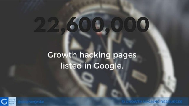31 Best Growth Hacking Resources Slide 2