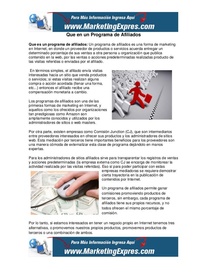 Que en un Programa de AfiliadosQue es un programa de afiliados: Un programa de afiliados es una forma de marketingen Inter...
