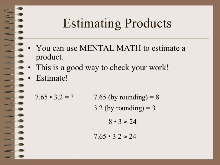 3.1 Rounding And Estimating