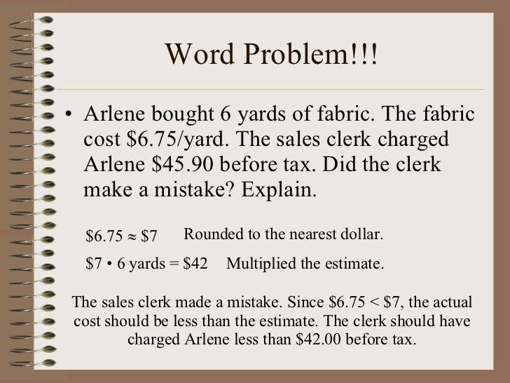 Common Worksheets Decimal Multiplication Word Problems – Estimating Decimals Worksheets