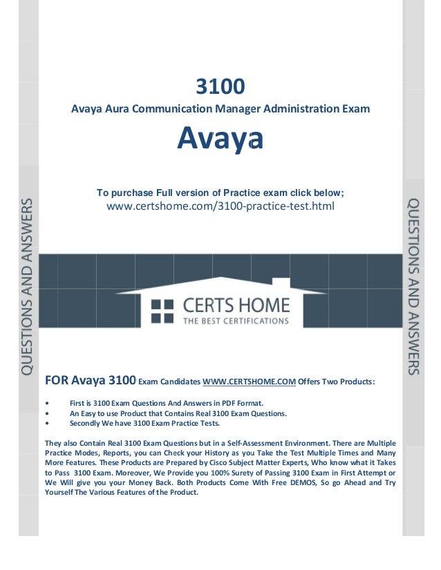 P a g e  1             31 100  AvayaAuraC Commun nicationManage erAdministratio onExam m  Av a vaya  ...