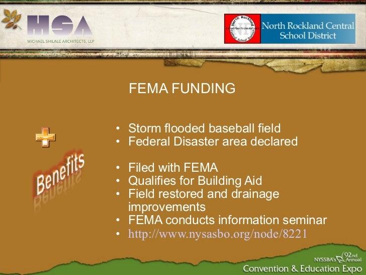 <ul><ul><li>Storm flooded baseball field </li></ul></ul><ul><ul><li>Federal Disaster area declared </li></ul></ul><ul><ul>...
