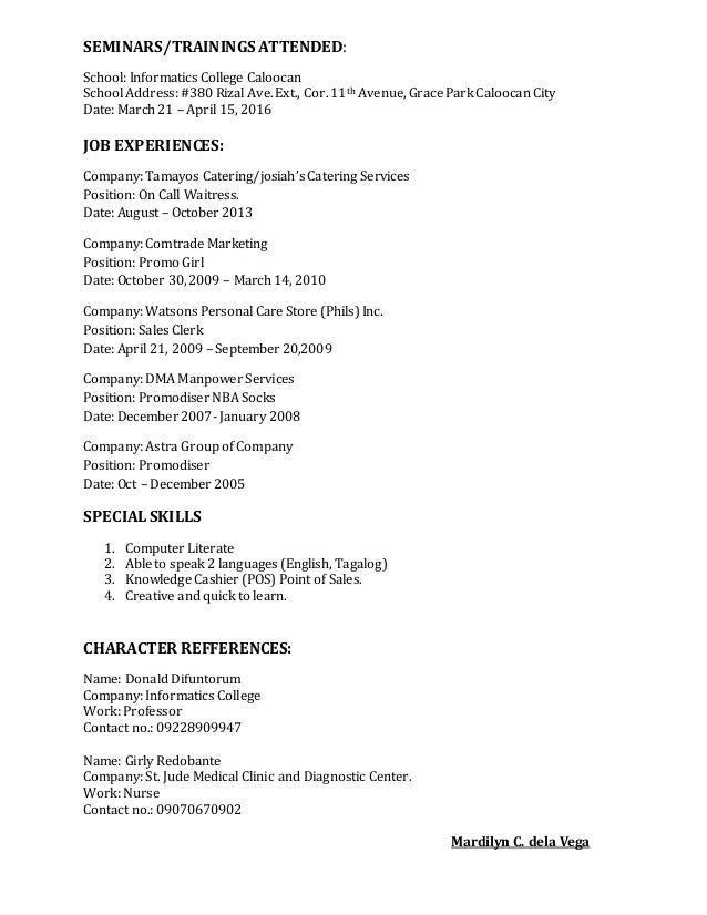 mardilyn c resume