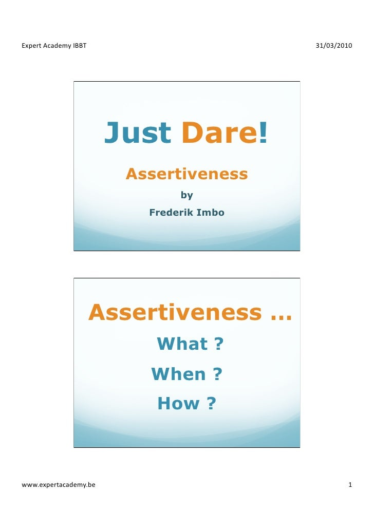 ExpertAcademyIBBT                       31/03/2010                             Just Dare!                          Ass...