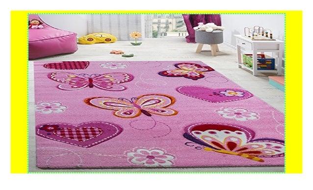 Paco Home Kinderzimmer Teppich Kinderteppich Schmetterling ...