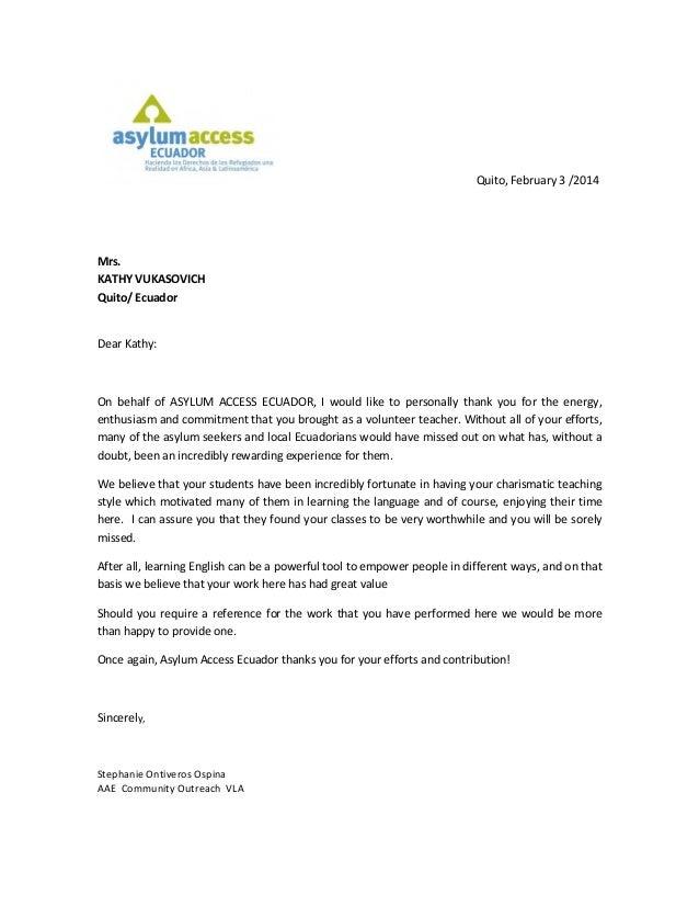 Asylum access thank you letter pdf altavistaventures Images