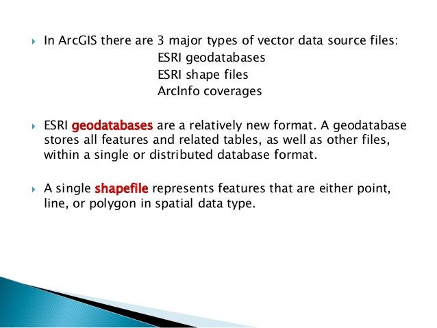 For each shapefile there exist at least 3 files:  The shape data (stored in the .shp file)  An associated dBASE (relation...