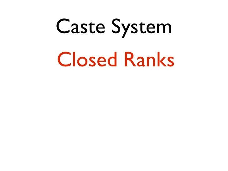 Class System   BirthAchievement Location