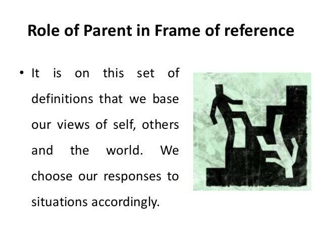 Frame of reference and redefining - transactional analysis - Manu Me…