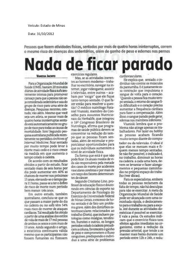 Veículo: Estado de MinasData: 31/10/2012