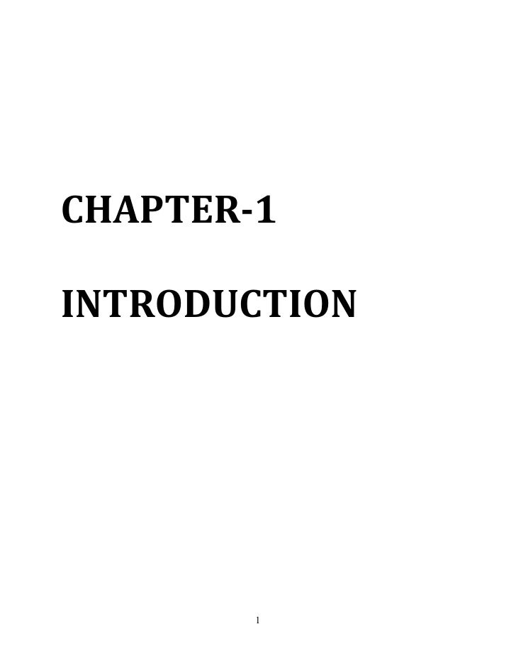 CHAPTER-1INTRODUCTION        1