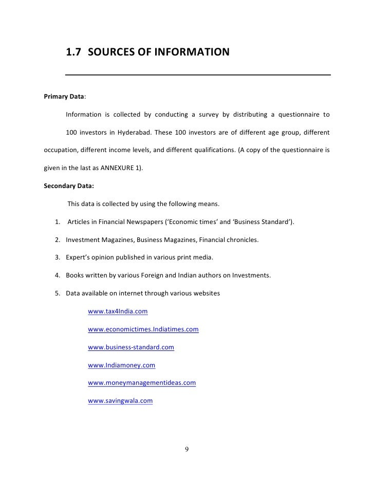 investor questionnaire template