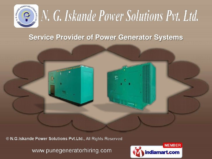 Service Provider of Power Generator Systems