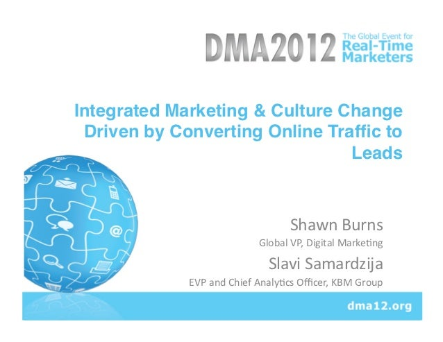Integrated Marketing & Culture Change Driven by Converting Online Traffic to                                Leads!         ...