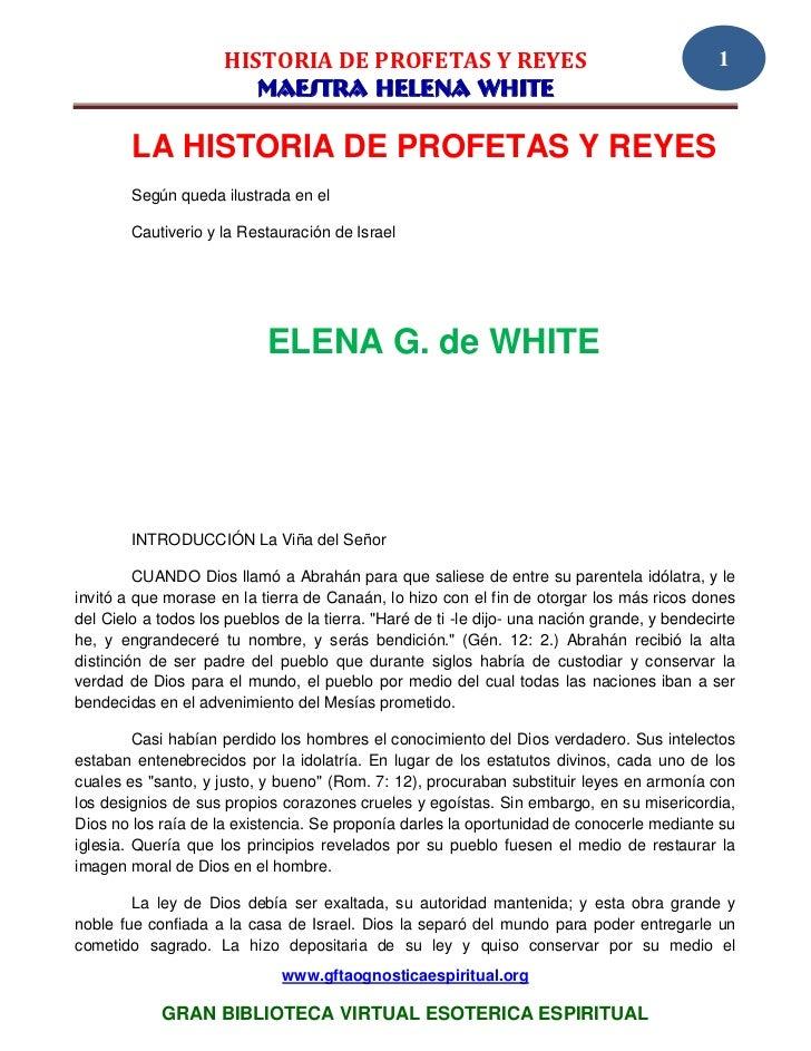 HISTORIA DE PROFETAS Y REYES                                             1                        MAESTRA HELENA WHITE    ...