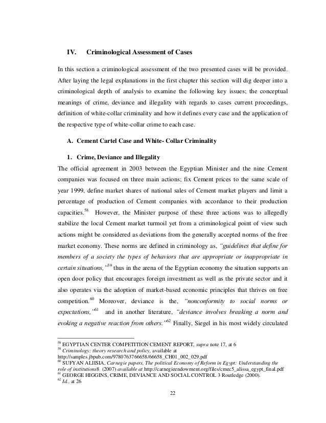 Thesis on white collar crime physics education research paper