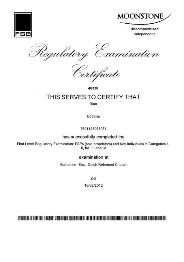 certificates new