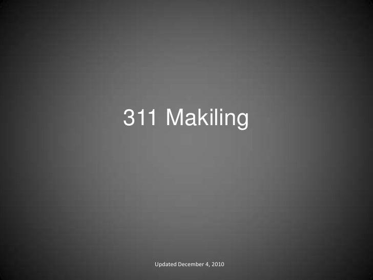 311 Makiling Updated December 4, 2010