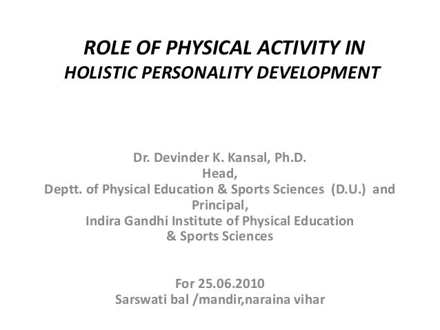 Role sports personality development