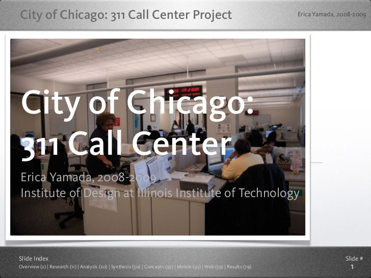 City of Chicago: 311 Call Center Project                                                                                Er...
