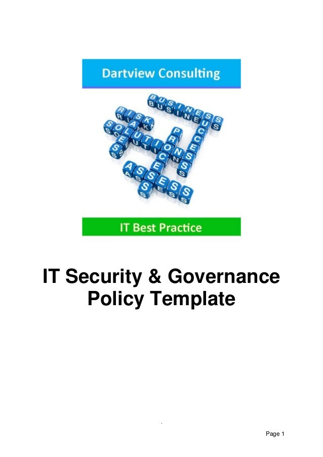 IT Security Governance Template – It Security Policy Template