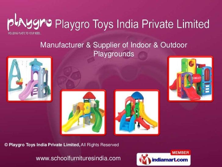Manufacturer & Supplier of Indoor & Outdoor Playgrounds<br />