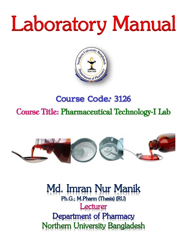 pharmaceutical technology i lab manik rh slideshare net Lab Testing Equipment Pharmaceutical Products