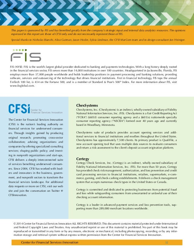 RESEARCH_FIS_CFSI_BeyondCheckCashing_6 3 2014_FINAL