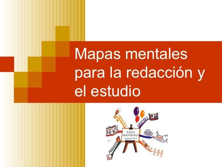 Mapas mentales para la redacción y el estudio